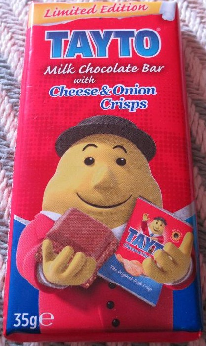 Tayto Milk Chocolate Bar With Cheese And Onion