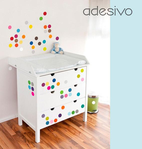 Adesivo De Joaninha Para Unhas ~ Como fazer bolinhas na parede dcoracao com blog de