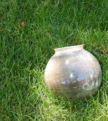 concrete garden globe DIY