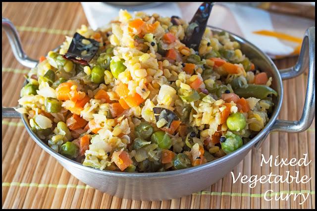 Cabbage Kadhamba Curry