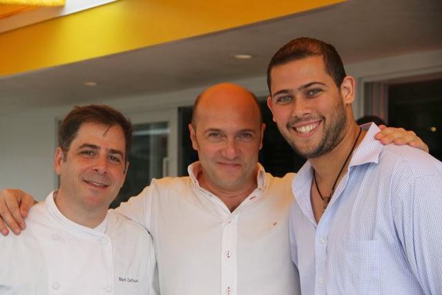 Chef-Mark-Zeitouni-Esteban-Capdevila-y-Carlos-De-La-Fuente en lido de Miami. Blog Esteban Capdevila