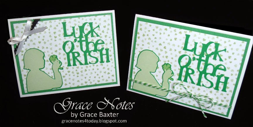Luck O' the Irish, St. Patrick's Day Card by Grace Baxter