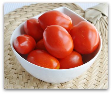 organic garden roma tomatoes