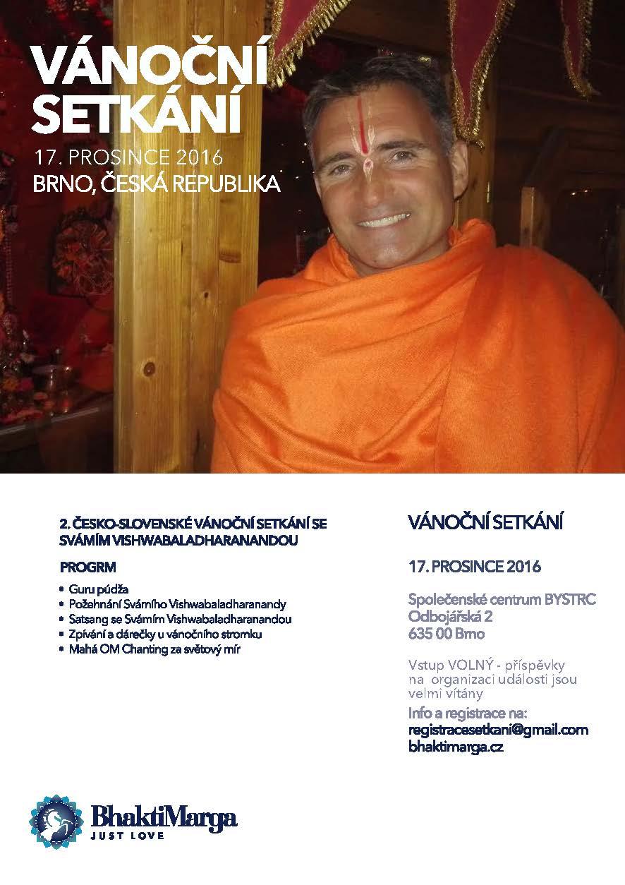 2. česko-slovenské vánoční setkání se Svámím Vishwabaladharanandou