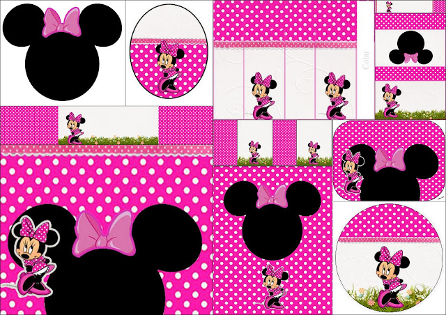 Coquette Pink Minnie: Free Printable Candy Bar Labels.
