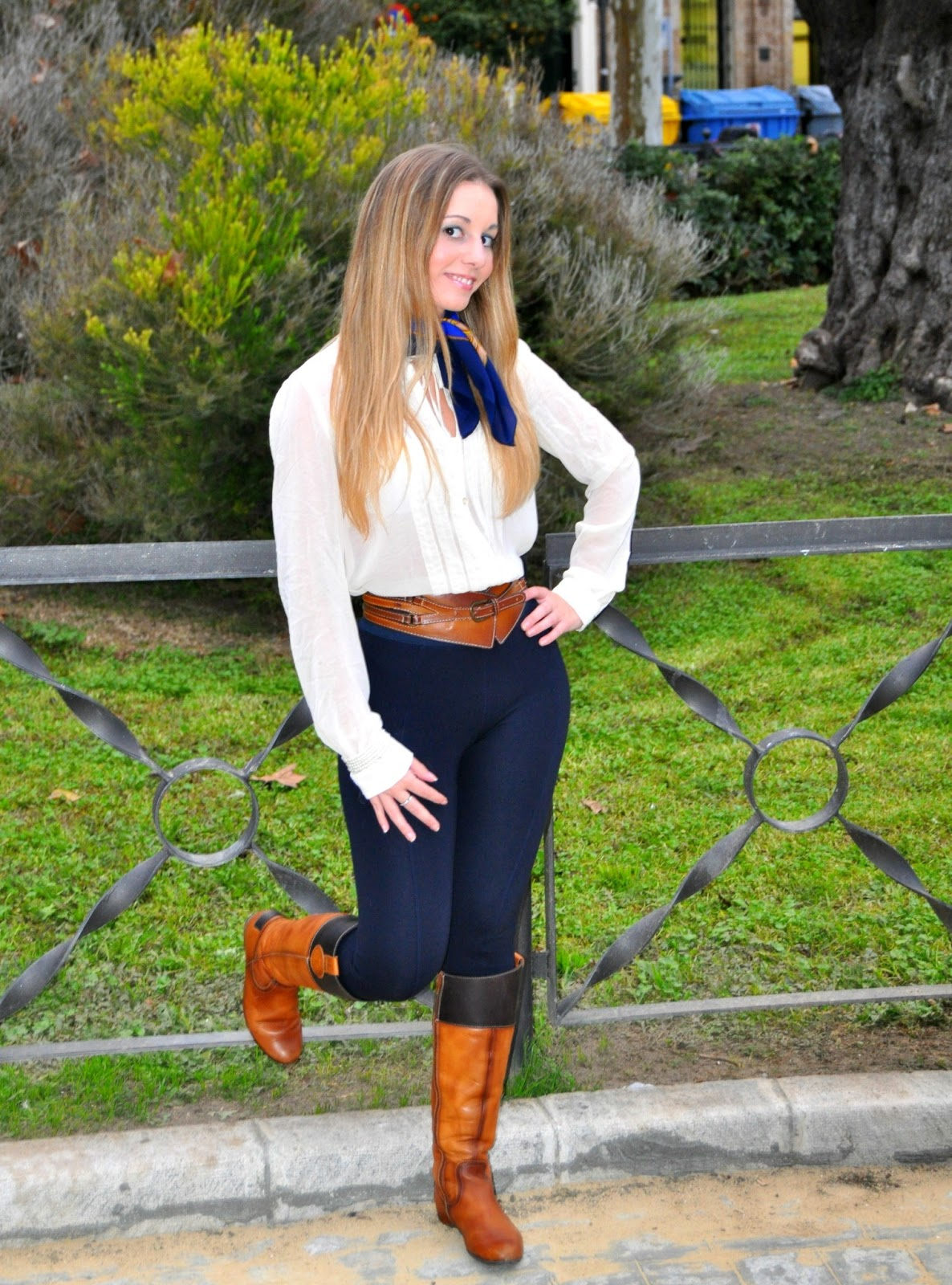Outfits Leggings Azul Marino