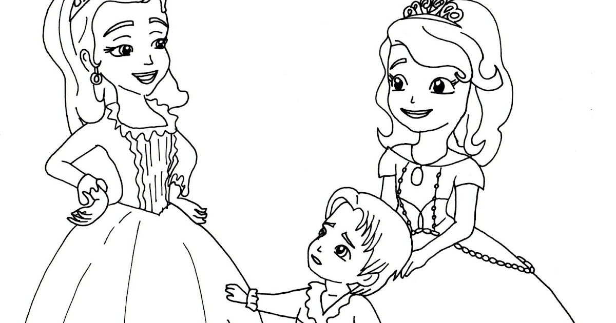 Sofia The First Coloring Pages: Two Princesses and a Baby - Sofia ...