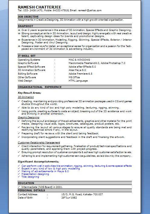 Resume In Word   BesikEightyCo