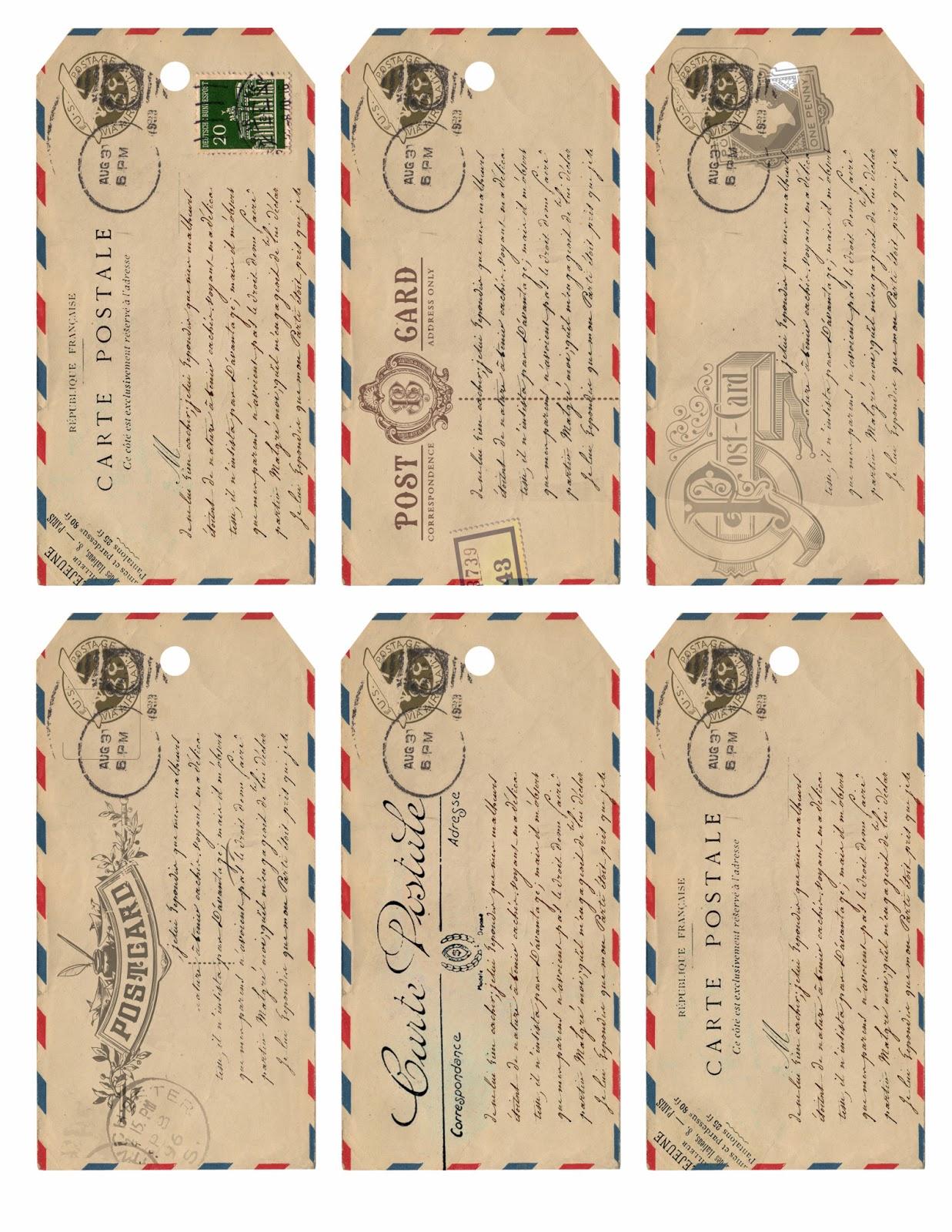 Free Printable Vintage Gift Tags Templates