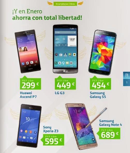 Movistar Smartphones Libres Enero 2015