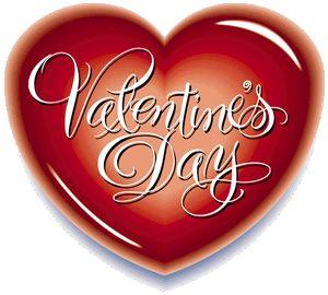 corazon rojo con letras blancas san valentin