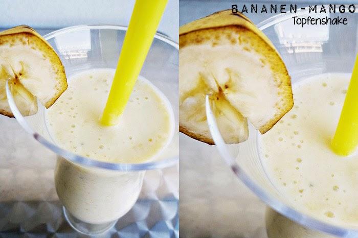 Bananen-Mango-Topfenshake