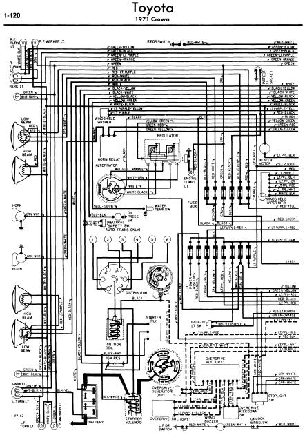 toyota crown 1971 wiring diagrams online manual sharing rh manualtransformer blogspot com Toyota Wiring Harness Diagram Toyota Wiring Diagrams Color Code