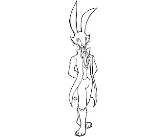 #2 The Night of Rabbit Coloring Page