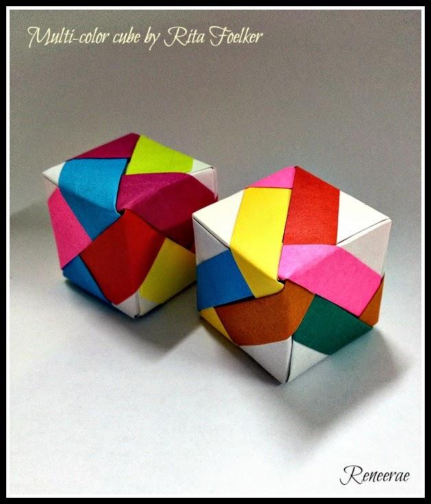 Lifes Simple Pleasure Origami Creations Multi Color Stripe Cubes