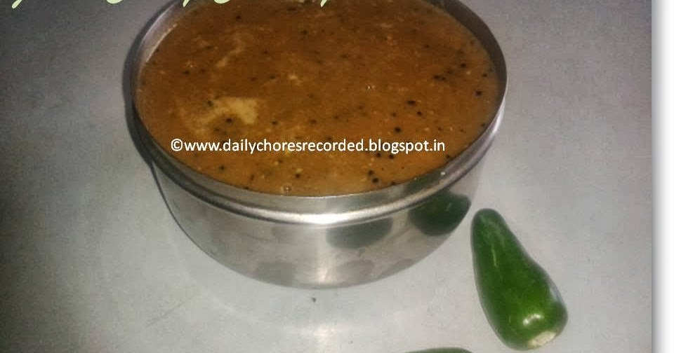 how to make green chilli chutney