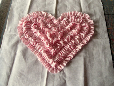 Heart Ruffle Pillow tutorial