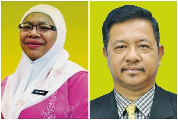 Pengarah Lembaga Peperiksaan (LPM) Dr Naimah Ishak dan Timbalan Pengarah Operasi LPM, Dr Wan Ilias Saleh