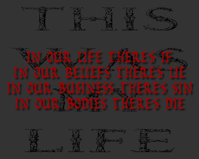 This Was My Life - Megadeth Song Lyric Quote in Text Image
