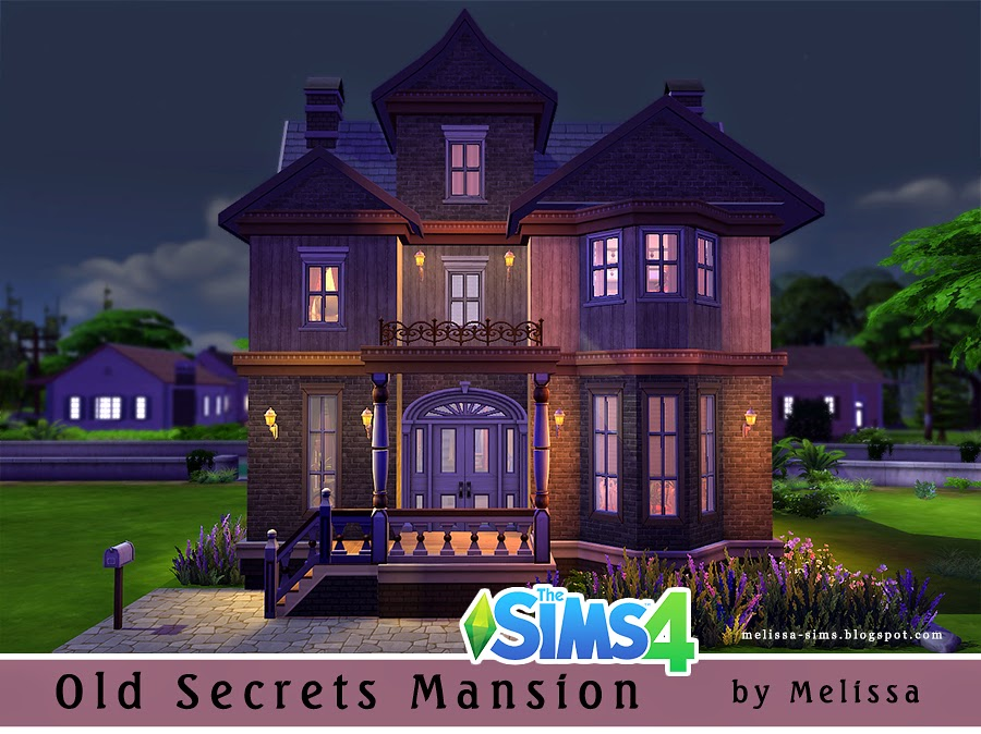 Melissasims3 old secrets mansion residential lot the for Classic house sims 4
