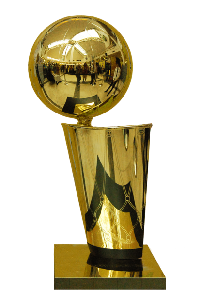 kobe bryant championship trophy. The NBA current championship