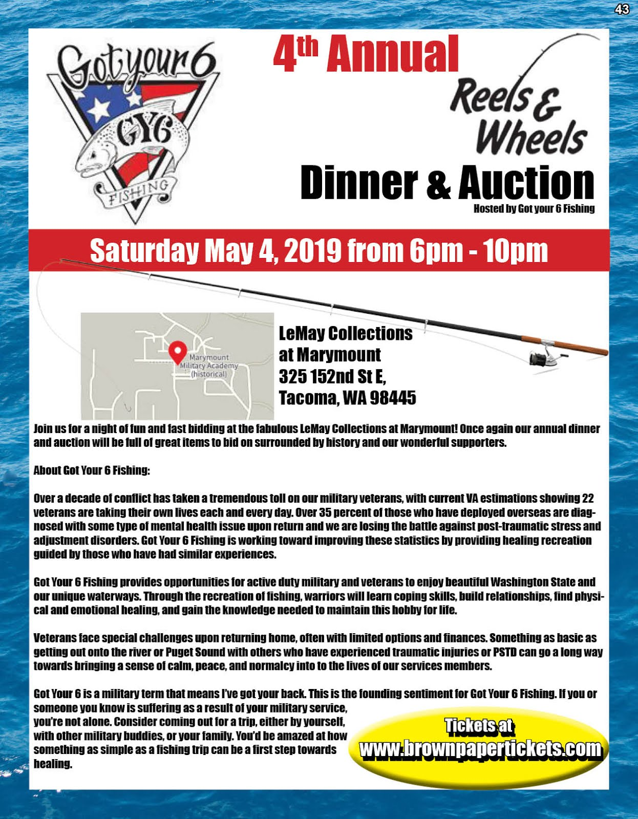 Got Your 6 4th Annual Reels to Wheels Event