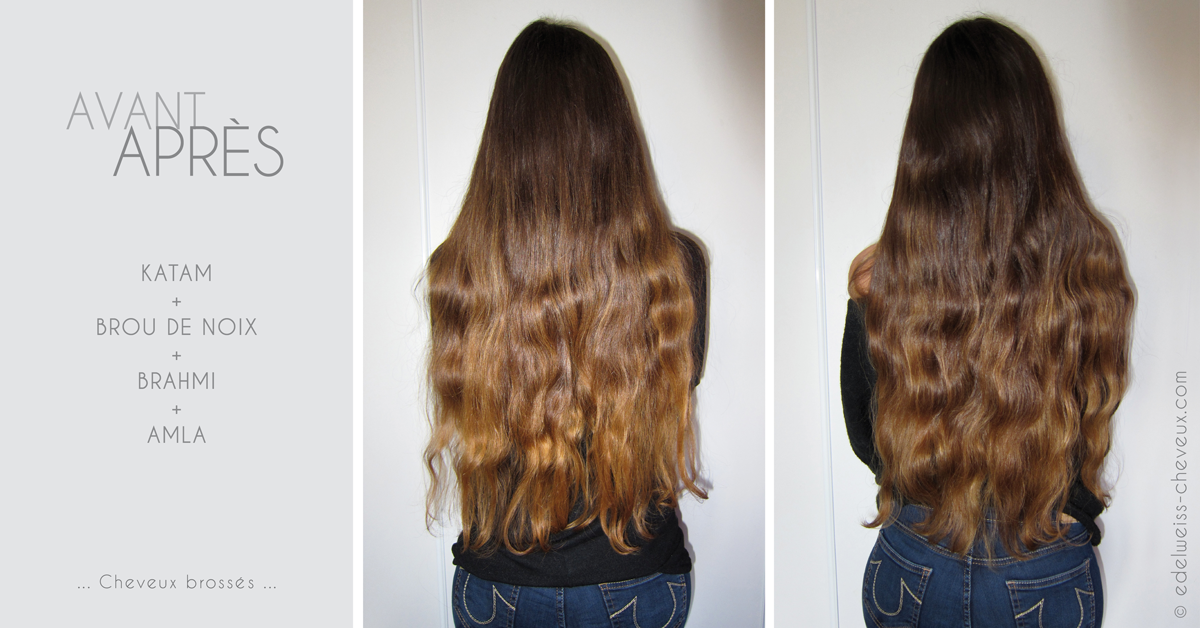 les cheveux sont doux et brillants mais ils sont plus secs que lors du prcdent mlange cette recette mrite peut tre lajout dactifs hydratants - Soin Cheveux Apres Coloration
