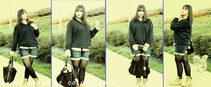 moda mujer botas timberland look bloggers