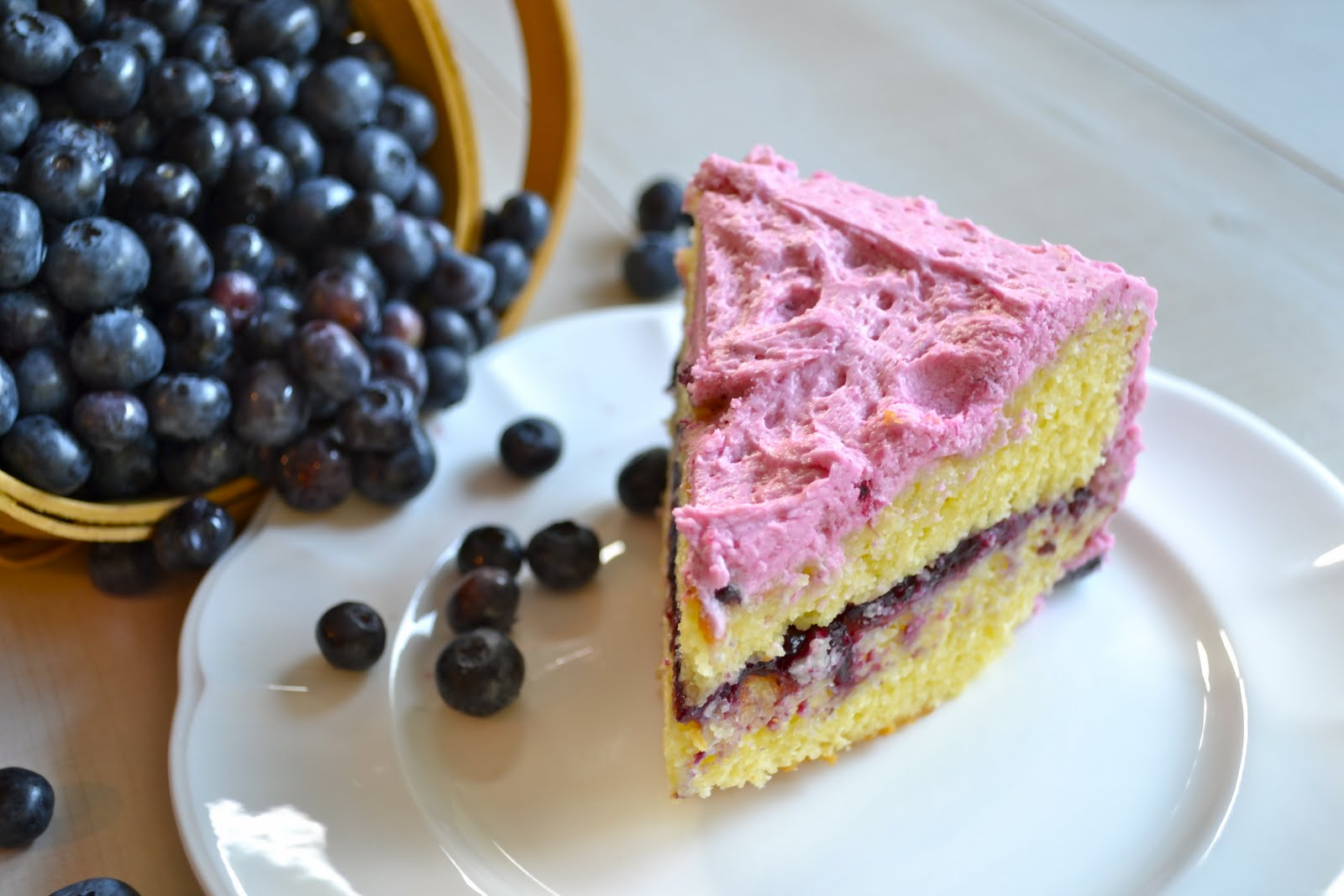 Blueberry Buttercream Cake With Blueberry Filling Mother Thyme