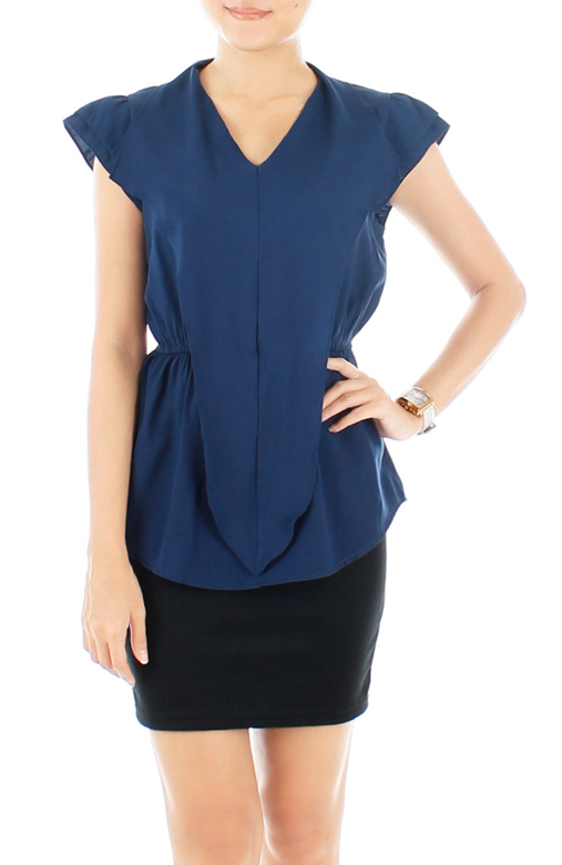 Chiselled Midnight Blue Blouse
