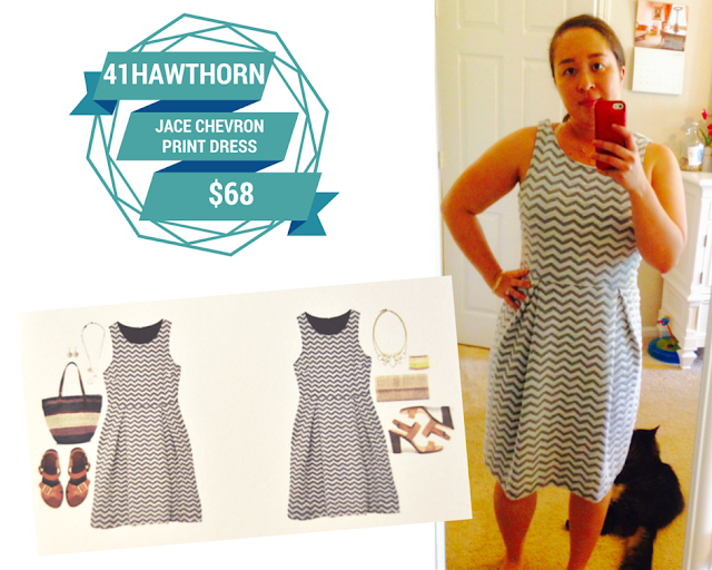 41Hawthorn Jace Chevron Print Dress