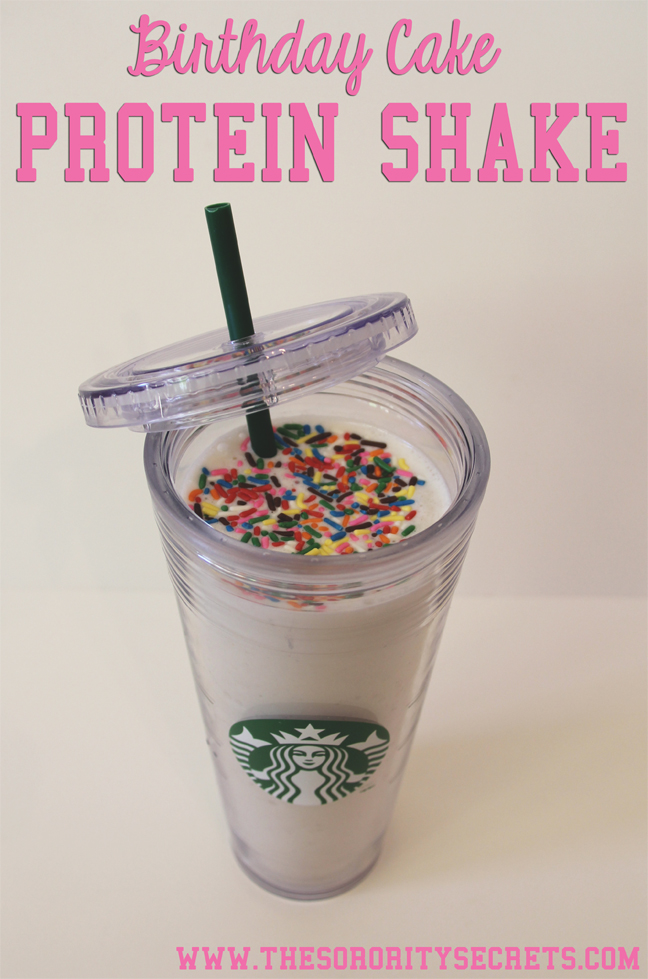 ... Secrets: Birthday Cake Protein Shake {Recipe from Dashing Dish