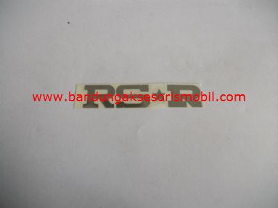 Emblem Alumunium 3M Kecil 1 Pcs RS R