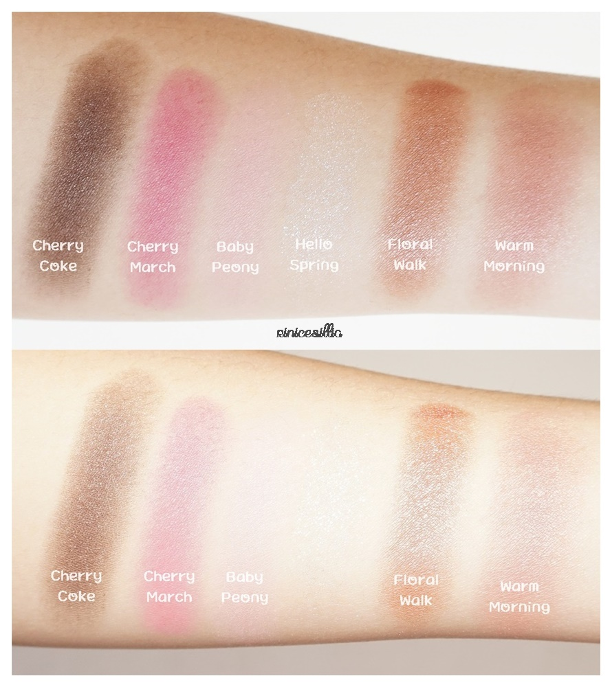 Cherry Blossom Eyes Etude House Play Color Fantastic Eyeshadow Swatches 890x1000