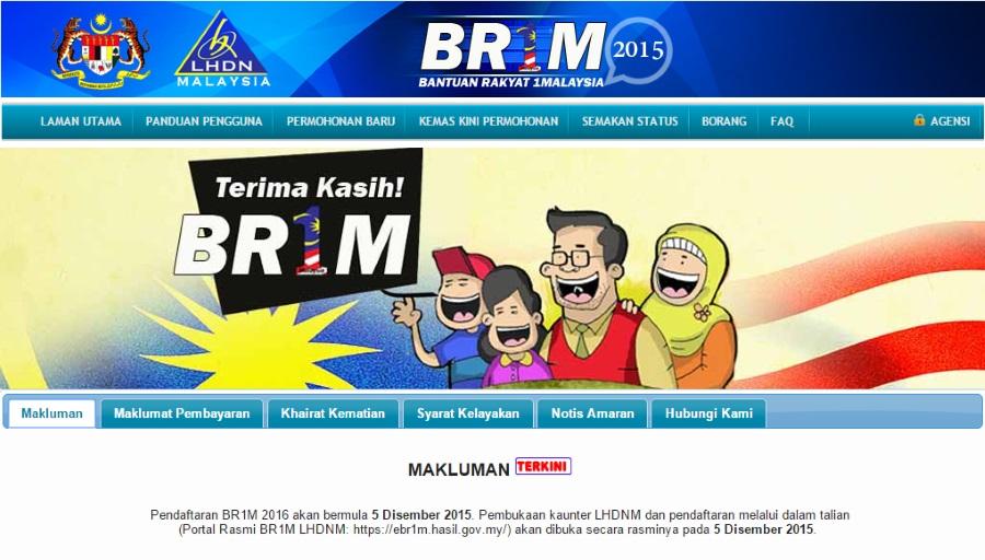 Permohonan BR1M 2016