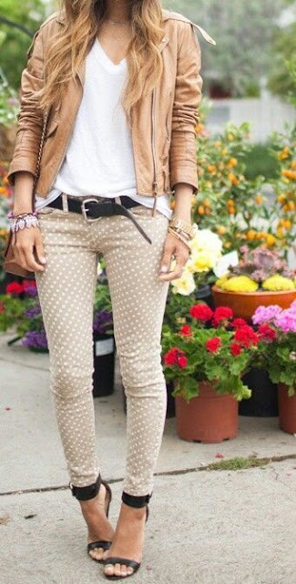 Polka-Dot Pants