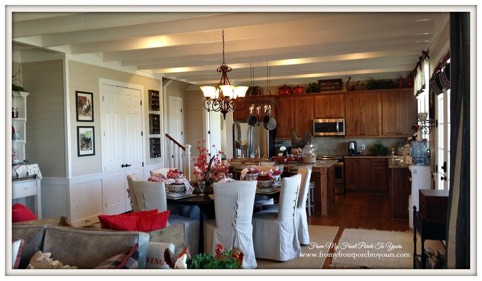 Texas Farmhouse Dining Room-RoundTop Texas-Trendmaker Homes-From My Front Porch To Yours