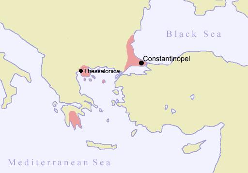 χάρτης Το Βυζάντιο το 1400