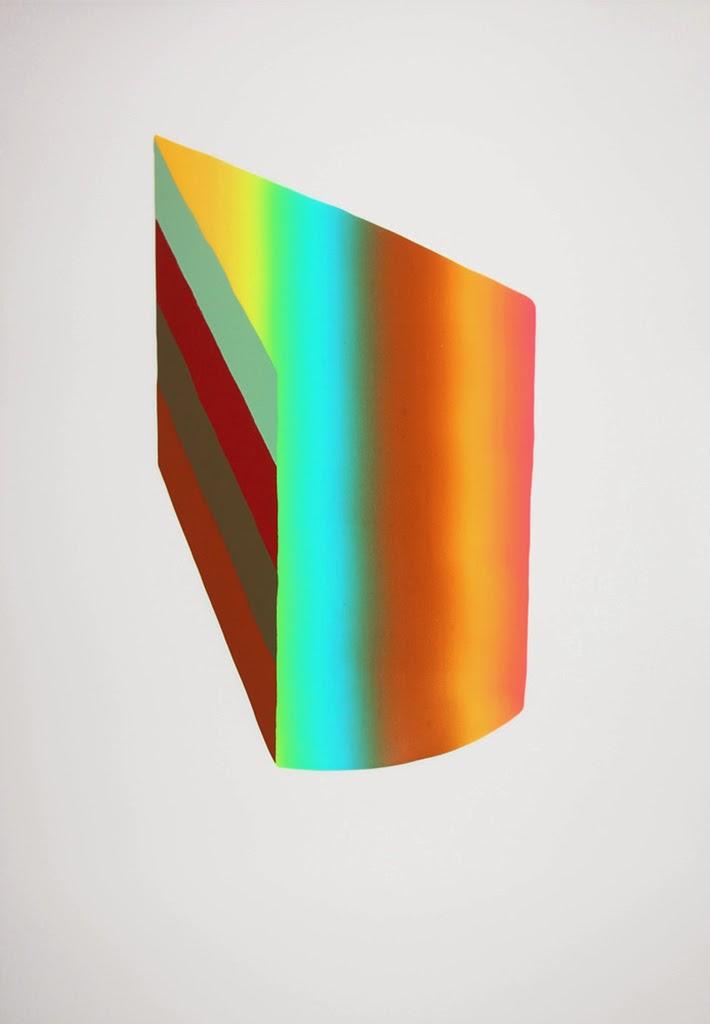 screen-printing, technique, color, gradient, cake slice