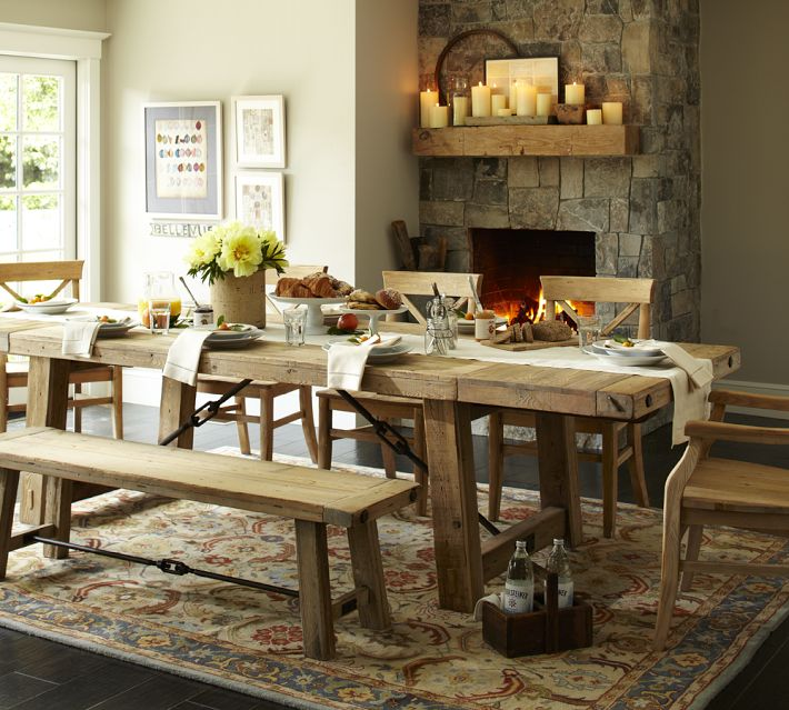 Pottery Barn Rustic Dining Room Table