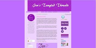 jen's tangled threads, custom blog, custom blogger, web design, custom web design, active,