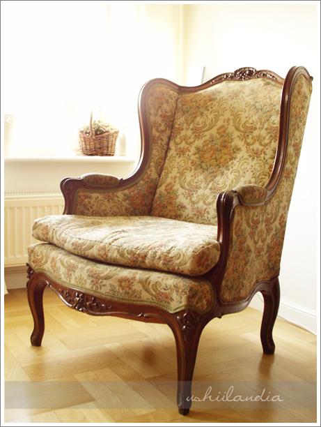 francuski fotel uszak