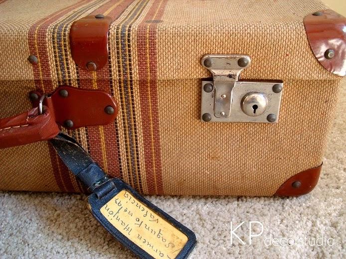 Comprar maleta antigua como mesita auxiliar