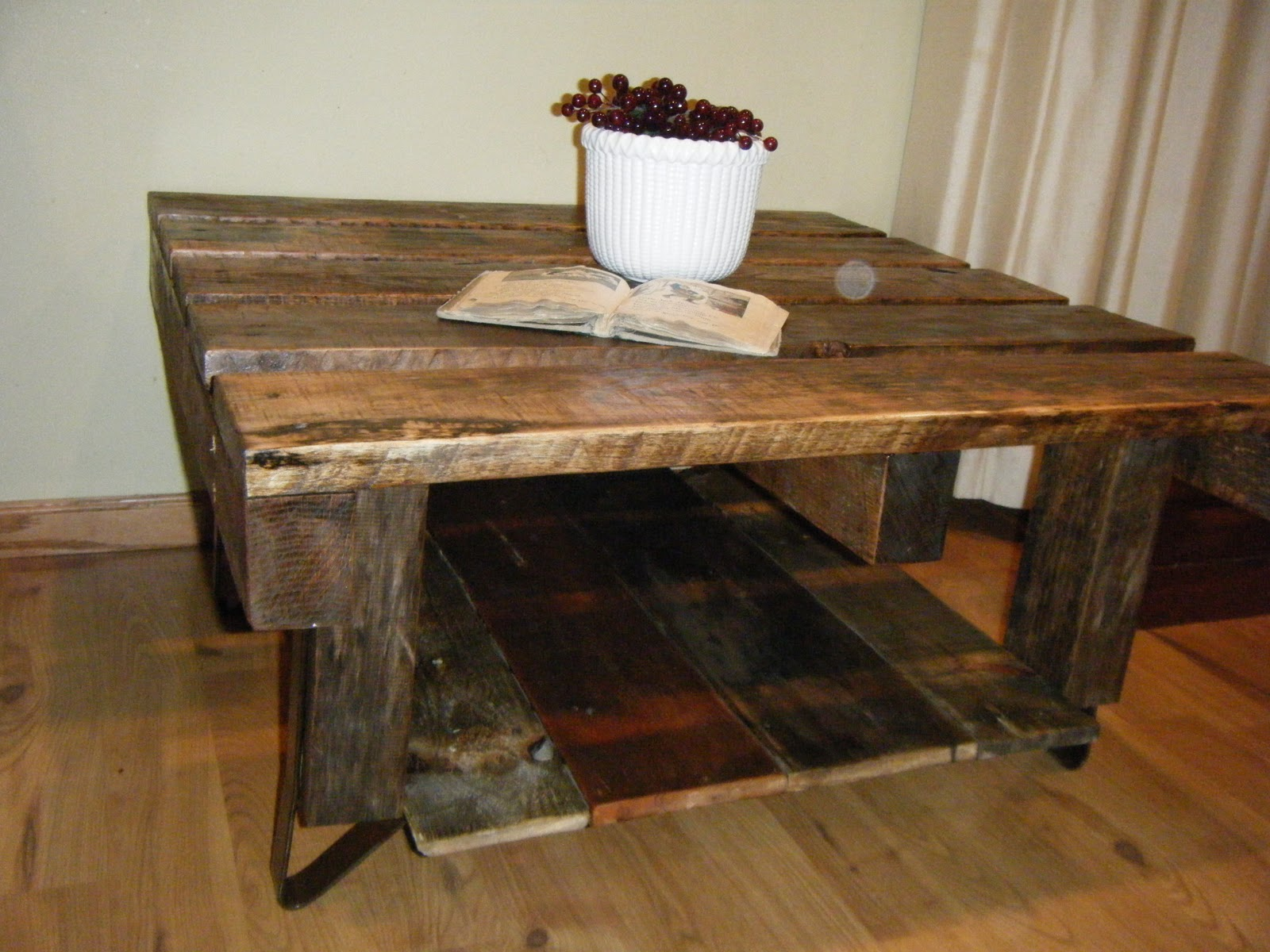 Tattered Lantern Rustic Pallet Coffee Table Sold