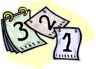 bloc éphéméride avec les jours 1, 2 et 3 (dessin)
