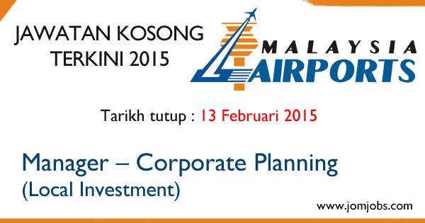Jawatan Kosong Malaysia Airports Holdings Berhad (MAHB) 2015 Terkini