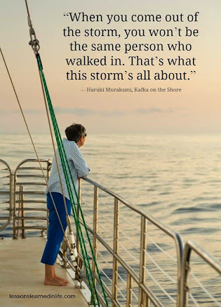 We all GROW after going through the storms in our lives.