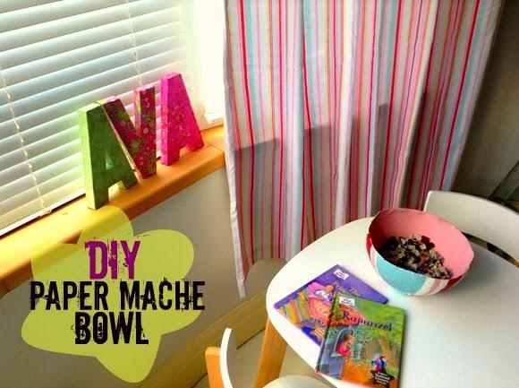 DIY Paper Mache Bowl Project