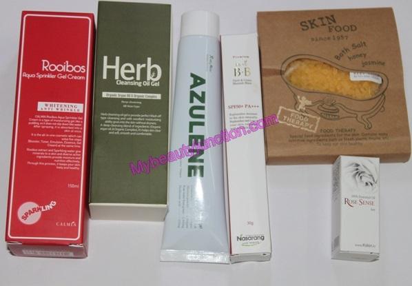 Memebox Herbal Cosmetics beauty box review, unboxing