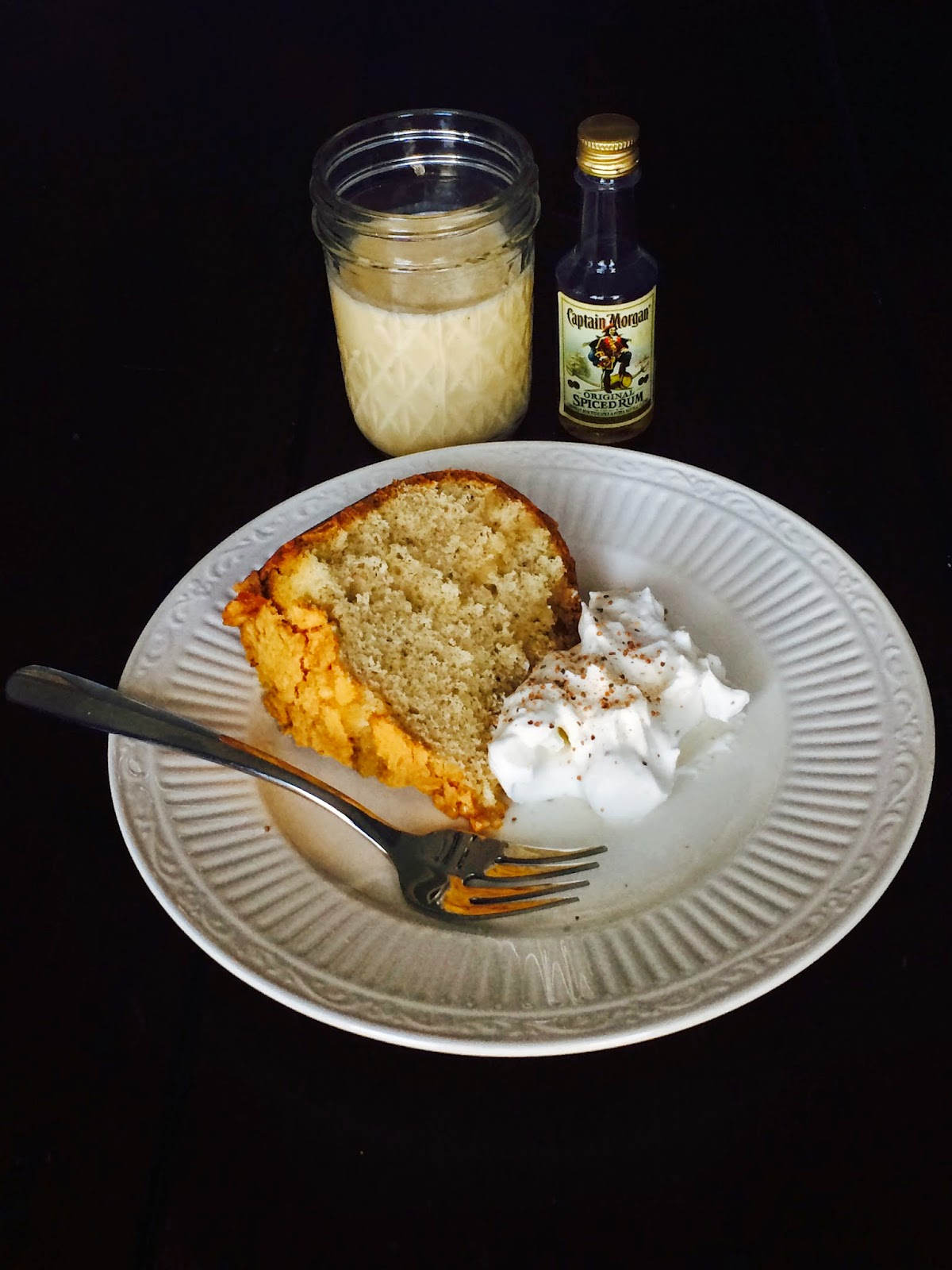 The Sugared and Spiced Kitchen: Rum Glazed Eggnog Pound Cake with ...